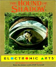 Box cover for Hound of Shadow on the Commodore Amiga.