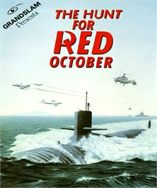 Box cover for Hunt for Red October on the Commodore Amiga.