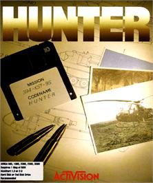 Box cover for Hunter on the Commodore Amiga.