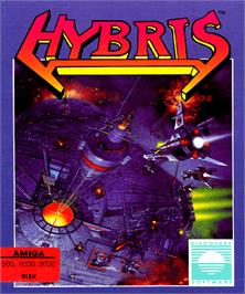 Box cover for Hybris on the Commodore Amiga.