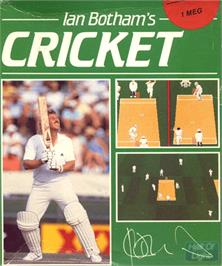 Box cover for Ian Botham's Cricket on the Commodore Amiga.