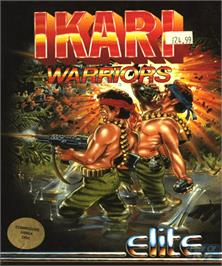 Box cover for Ikari Warriors on the Commodore Amiga.