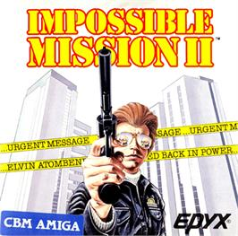 Box cover for Impossible Mission 2 on the Commodore Amiga.