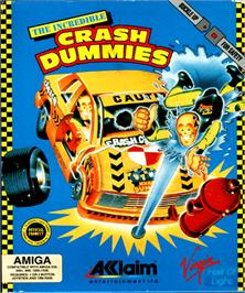 Box cover for Incredible Crash Dummies on the Commodore Amiga.