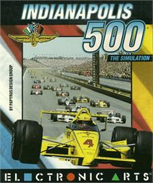 Box cover for Indianapolis 500: The Simulation on the Commodore Amiga.