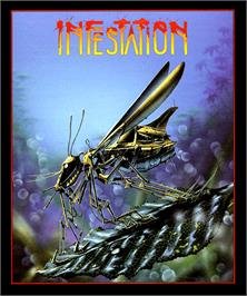 Box cover for Infestation on the Commodore Amiga.