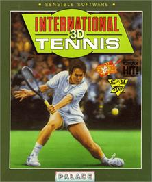 Box cover for International 3D Tennis on the Commodore Amiga.