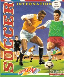 Box cover for International Soccer on the Commodore Amiga.