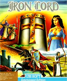 Box cover for Iron Lord on the Commodore Amiga.