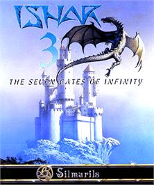 Box cover for Ishar 3: The Seven Gates of Infinity on the Commodore Amiga.
