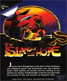 Box cover for Island of Lost Hope on the Commodore Amiga.