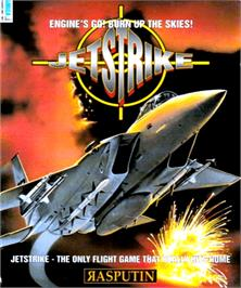 Box cover for Jet Strike on the Commodore Amiga.