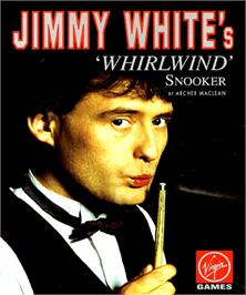 Box cover for Jimmy White's Whirlwind Snooker on the Commodore Amiga.