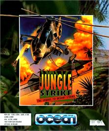 Box cover for Jungle Strike on the Commodore Amiga.