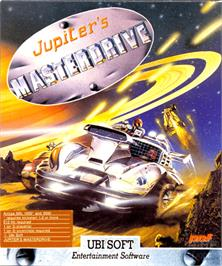 Box cover for Jupiter's Masterdrive on the Commodore Amiga.