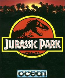 Box cover for Jurassic Park on the Commodore Amiga.