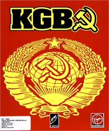 Box cover for KGB on the Commodore Amiga.