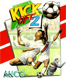 Box cover for Kick Off 2: Giants of Europe on the Commodore Amiga.