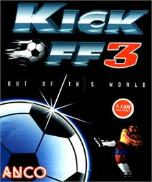 Box cover for Kick Off 3 on the Commodore Amiga.
