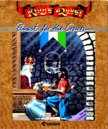 Box cover for King's Quest on the Commodore Amiga.
