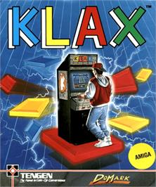 Box cover for Klax on the Commodore Amiga.