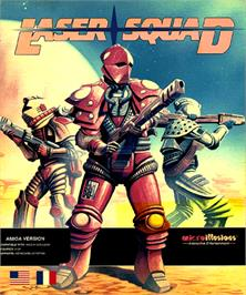 Box cover for Laser Squad on the Commodore Amiga.