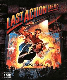 Box cover for Last Action Hero on the Commodore Amiga.