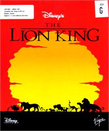 Box cover for Lion King on the Commodore Amiga.