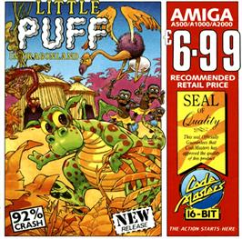 Box cover for Little Puff in Dragonland on the Commodore Amiga.