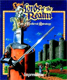 Box cover for Lords of the Realm on the Commodore Amiga.