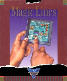 Box cover for Magic Lines on the Commodore Amiga.