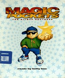 Box cover for Magic Pockets on the Commodore Amiga.