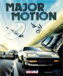 Box cover for Major Motion on the Commodore Amiga.