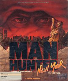 Box cover for Manhunter: New York on the Commodore Amiga.