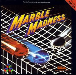 Box cover for Marble Madness on the Commodore Amiga.