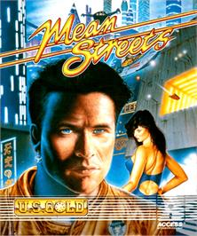 Box cover for Mean Streets on the Commodore Amiga.