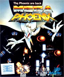 Box cover for Mega Phoenix on the Commodore Amiga.
