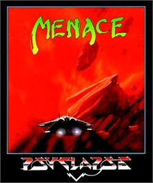 Box cover for Menace on the Commodore Amiga.