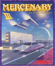 Box cover for Mercenary III : The Dion Crisis on the Commodore Amiga.