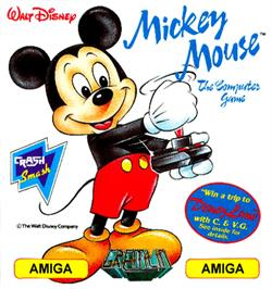 Box cover for Mickey Mouse: The Computer Game on the Commodore Amiga.