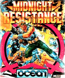 Box cover for Midnight Resistance on the Commodore Amiga.