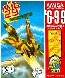 Box cover for Mig-29 Soviet Fighter on the Commodore Amiga.