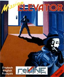Box cover for Mission Elevator on the Commodore Amiga.