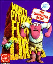 Box cover for Monty Python's Flying Circus on the Commodore Amiga.