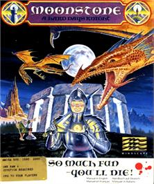 Box cover for Moonstone: A Hard Days Knight on the Commodore Amiga.