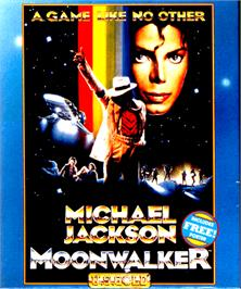 Box cover for Moonwalker on the Commodore Amiga.