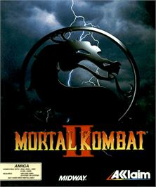 Box cover for Mortal Kombat II on the Commodore Amiga.