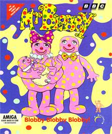 Box cover for Mr. Blobby on the Commodore Amiga.