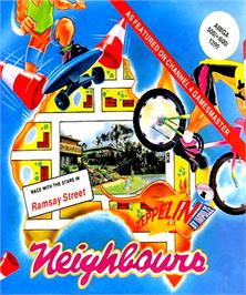 Box cover for Neighbours on the Commodore Amiga.