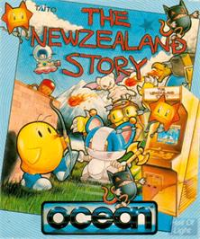 Box cover for New Zealand Story on the Commodore Amiga.